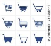 icons shopping cart. set.... | Shutterstock . vector #154205447