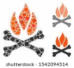 bones campfire composition of... | Shutterstock .eps vector #1542094514