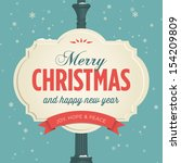 merry christmas card | Shutterstock .eps vector #154209809