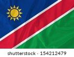 namibia waving flag | Shutterstock . vector #154212479