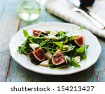 fig arugula and cheese salad | Shutterstock . vector #154213427