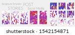 creative backgrounds for social ... | Shutterstock .eps vector #1542154871