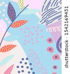 color splash abstract floral... | Shutterstock .eps vector #1542169451
