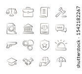 law and justice line icons set... | Shutterstock .eps vector #1542182267