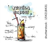 hand drawn illustration of... | Shutterstock .eps vector #154218431
