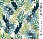 trend seamless tropical pattern ... | Shutterstock .eps vector #1542227024