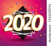 2020 happy new year poster.... | Shutterstock .eps vector #1542230741