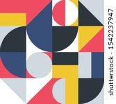 geometric minimalistic pattern... | Shutterstock .eps vector #1542237947