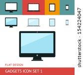 gadgets icons set. display....