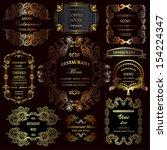 vector set  calligraphic design ... | Shutterstock .eps vector #154224347