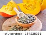 pumpkin with seeds | Shutterstock . vector #154228391