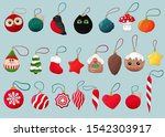 christmas balls collection.... | Shutterstock .eps vector #1542303917