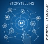 storytelling concept  blue...