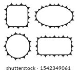 empty blank vintage frame set ... | Shutterstock .eps vector #1542349061