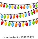christmas light bulbs on white | Shutterstock .eps vector #154235177