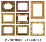 set of golden vintage frame... | Shutterstock . vector #154236485