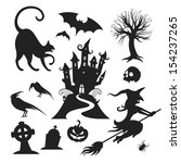 set of various vector halloween ... | Shutterstock .eps vector #154237265