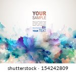 abstract artistic background... | Shutterstock .eps vector #154242809