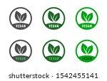 vegan food diet icon set.... | Shutterstock .eps vector #1542455141
