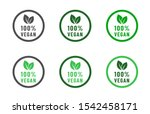 100  vegan food diet icon set.... | Shutterstock .eps vector #1542458171