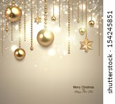 elegant christmas background... | Shutterstock .eps vector #154245851