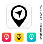 point icon on white background. ... | Shutterstock .eps vector #154247747