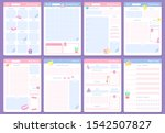 cute planner templates. weekly  ... | Shutterstock .eps vector #1542507827