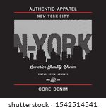 new york city typography for... | Shutterstock .eps vector #1542514541