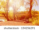 fall landscape around the lake  | Shutterstock . vector #154256291