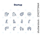 startup icon. set of line icons ... | Shutterstock .eps vector #1542573464