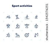 sport activities line icon set. ... | Shutterstock .eps vector #1542576251