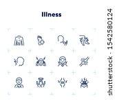 illness line icons. set of line ... | Shutterstock .eps vector #1542580124