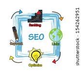 search engine optimization... | Shutterstock .eps vector #154262951