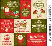 vector set of christmas symbols   Shutterstock .eps vector #154265504