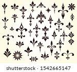 a large set of design elements... | Shutterstock .eps vector #1542665147