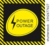 Warning Sign. Power Outage Icon....
