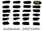 black ink vector brush strokes. ... | Shutterstock .eps vector #1542712454