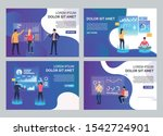 users in vr headsets set.... | Shutterstock .eps vector #1542724901
