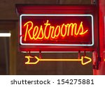 a red neon sign points the way... | Shutterstock . vector #154275881