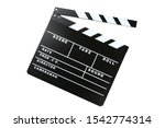Clapper Board Isolated On Whit...