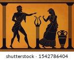 ancient greece scene. antic... | Shutterstock .eps vector #1542786404
