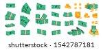 bundle of money. currency coins ... | Shutterstock .eps vector #1542787181