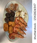 Small photo of hors d'oeuvres sea and mountain exquisite dish