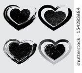 grunge harts   Shutterstock .eps vector #154283684