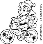 Coloring Page Christmas Elf...