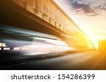 truck speeding through a bridge ... | Shutterstock . vector #154286399