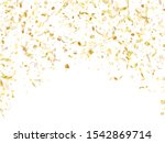 gold shiny realistic confetti...   Shutterstock .eps vector #1542869714