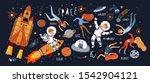 space  vector cute... | Shutterstock .eps vector #1542904121
