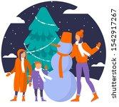 christmas concept illustration... | Shutterstock .eps vector #1542917267