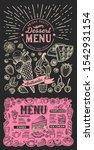 dessert menu template for... | Shutterstock .eps vector #1542931154